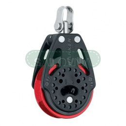 Harken 57mm Ratchet Block - Swivel, Red Sheave