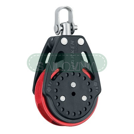 Harken 57mm Ratchamatic Block - Swivel, Red Sheave