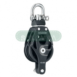 Harken 45mm Aluminum Element Double Block — Swivel, Becket