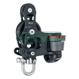 Harken 45mm Aluminum Element Fiddle Block - Swivel, Cam Cleat