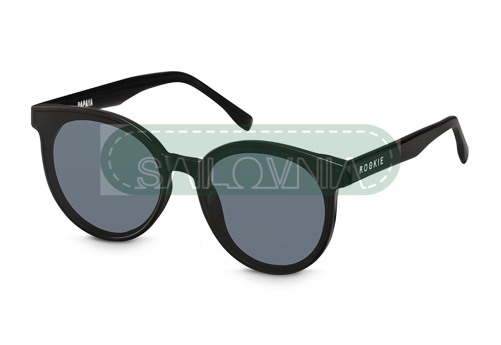 Rookie Papaya Sunglasses round black