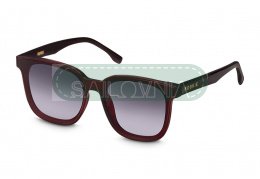 Rookie Papaya Sunglasses rectangular maroon
